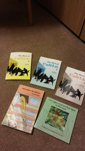Some of my published works, most anthologies. Image by Allison Symes
