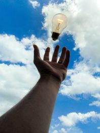 Reaching out for writing ideas. Image via Pixabay.