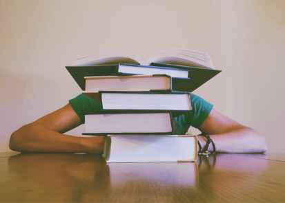 A good reading pile! Pexels image.