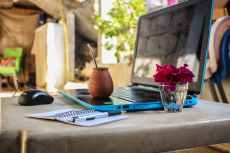A nice clear desk (not mine!). Image via Pexels