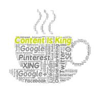 Content is indeed king. Image via Pixabay.