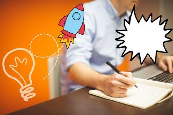 Generating the writing ideas. Image via Pixabay.
