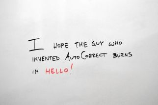 One downside to online writing is auto-correct! Image via Pixabay