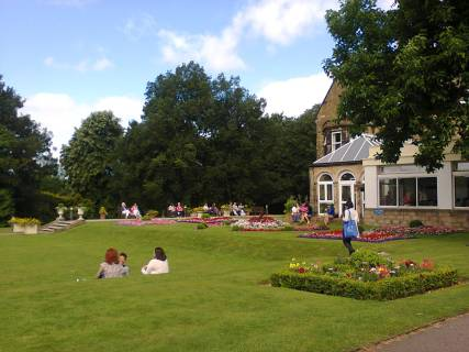 Part of the lawns at Swanwick. Image by Allison Symes.