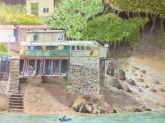 Pi Toi O Fishing Village NT Hong Kong - image and original painting by Graham MacLean