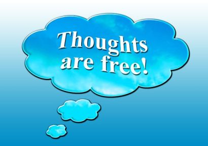 Thoughts are free but check images used are either free to use or your own! Image via Pixabay.