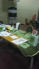 At the Hursley Park Book Fair. Image by Allison Symes