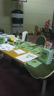 At the recent Hursley Park Book Fair. Image by Allison Symes