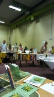 Looking up one side of the hall from my stand. Image by Allison Symes