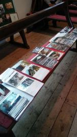 Everyone loved flipping through the photo albums. Image by Allison Symes