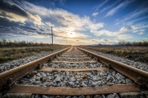 Getting away from it all by train. Pixabay image.