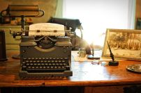 I recall using a manual typewriter and manually copying and pasting. Pixabay image.