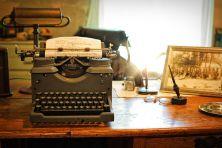 I recall using a manual typewriter and manually copying and pasting. Pixabay image.
