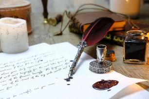Very old school writing. Pixabay image.