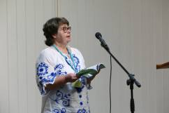 Many thanks to Geoff Parkes for kind permission to use this shot of my reading from FLTDBA at the Open Prose Mic at Swanwick.