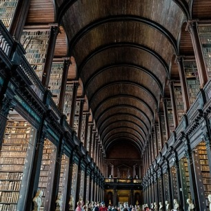 Trinity College, Dublin. Pixabay image. Seriously impressive!