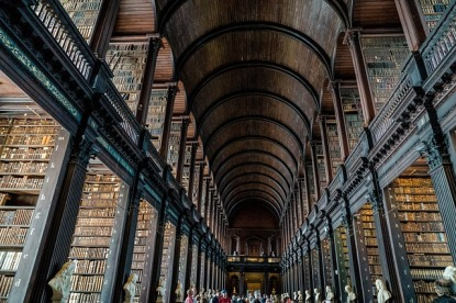 Trinity College, Dublin. Pixabay image. Seriously impressive!