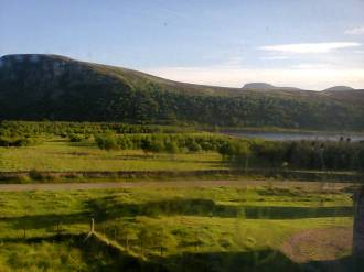 The view opposite the Scottish holiday cottage I stayed in. Image by Allison Symes
