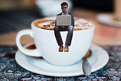 Beware! Writer at work. Other beverages are available. Pixabay image.