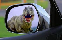 If you see this in your mirror, you are in big trouble and the wrong time zone. Pixabay image