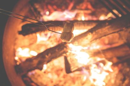 The appeal of reading around a fireside cannot be overstated right now! Pixabay image