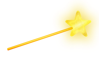 I always thought the magic wand looked a bit twee for something so powerful. Pixabay image.