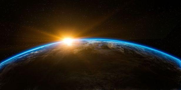 Sunrise from space. Pixabay image.