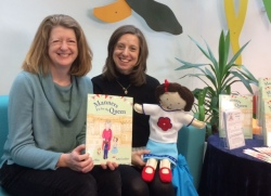 Sally and Anne at their recent Chandler's Ford Library event. Image kindly supplied by Anne.