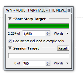 Setting a word count target. Image by Allison Symes