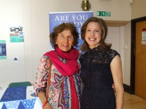 Barbara Large and Anne Wan at Anne's book launch. Image kindly supplied by Anne Wan.