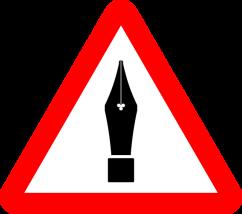 Warning: Writer at Work. Pixabay