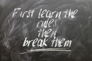 Does Murphy's Law kick in when you learn the rules or when you try to break them - Pixabay