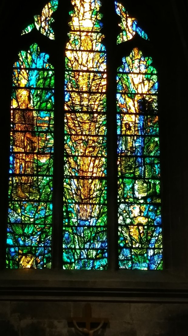You found more in this amazing stained glass window the more you looked at it