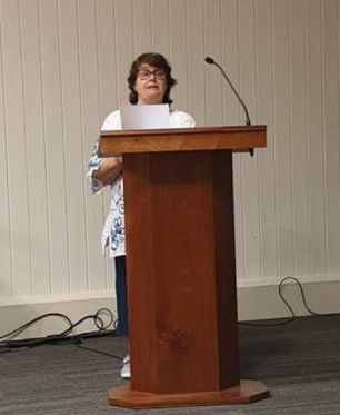 Many thanks to Penny Blackburn for taking this shot of me at the Swanwick Prose Open Mic night.