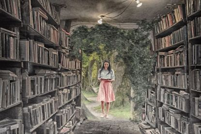 Each book takes you into a new world. Pixabay