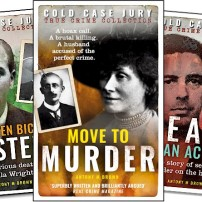 Antony Brown's Cold Case Juries series to date. Image supplied by him.