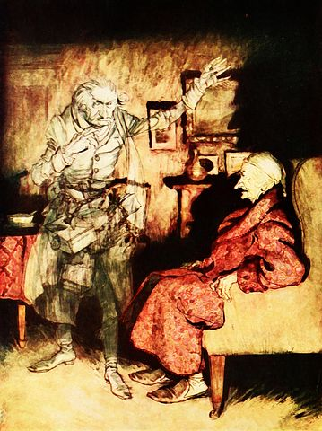The late Jacob Marley visits Ebenezer Scrooge - Pixabay
