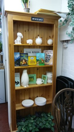 Books on display at The Framing Shop in Hiltingbury