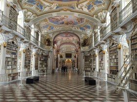 I don't know where this is but I think this is the loveliest library ever