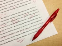 You do get used to using and seeing the red pen on your work