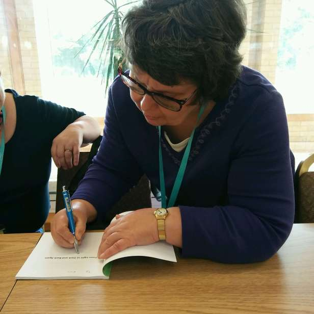 Happy memories signing for my book for the lovely Val Penny. Many thanks to Jen C Wilson for taking the pic!