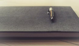 A favourite of attendees at Swanwick - the trusty notebook and pen to take down invaluable advice