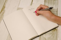 LOOKING AHEAD - Jotting down ideas of what you'd like to achieve can help you focus and then get them done