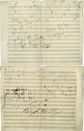 Part of one of Beethoven's compositions - image via Pixabay
