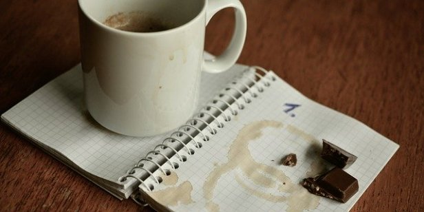 WRITING DOES - Having a nice drink and chocolate on standby as I plan writing goals has always seemed a good idea