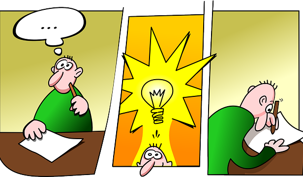 I've yet to see the lightbulb appear above my head! Pixabay