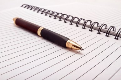 Never too old fashioned to use a pen to jot down those ideas. Pixabay