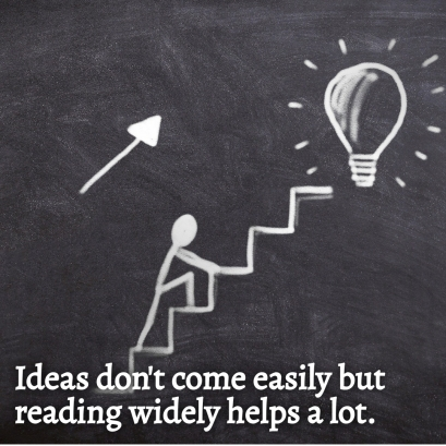 Ideas don't come easily
