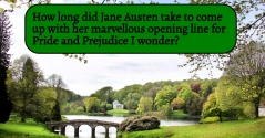 Jane Austen - opening for Pride and Prejudice