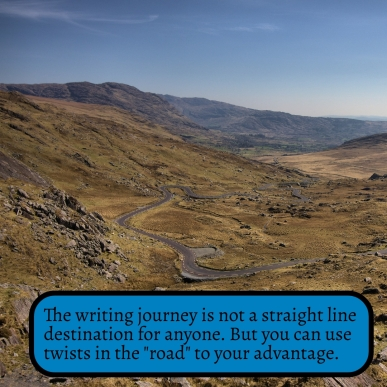 The writing journey is not a straight line one for anyone